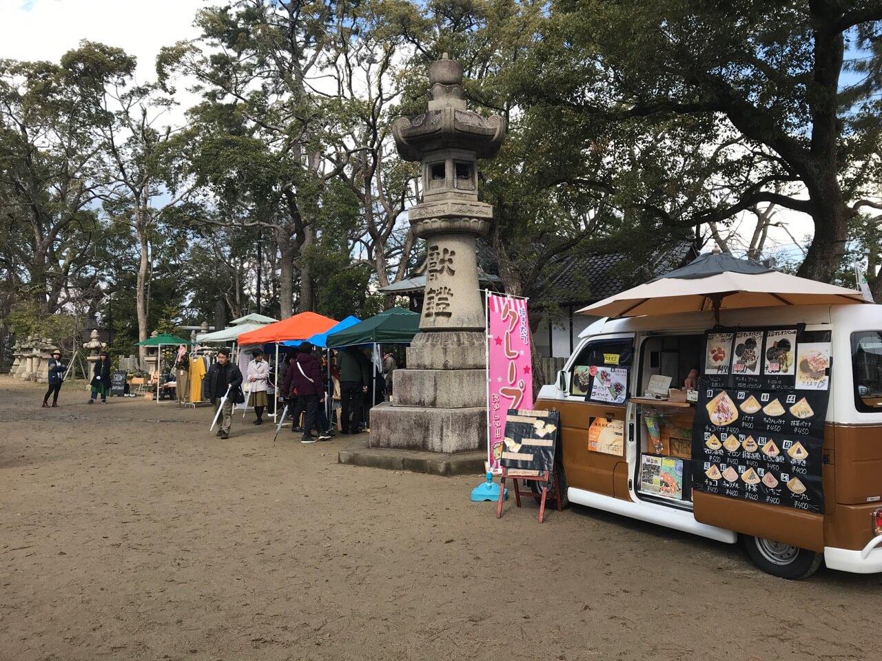 17日は猪名野神社の市