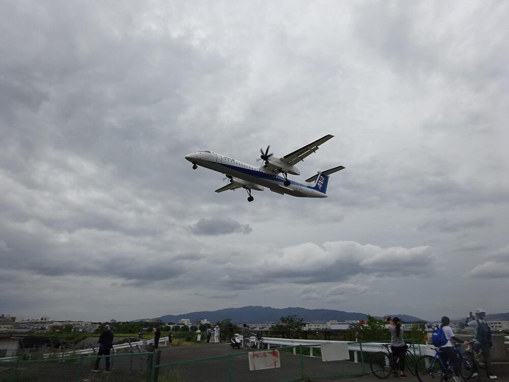 ボンバルディア機伊丹空港14運用着陸