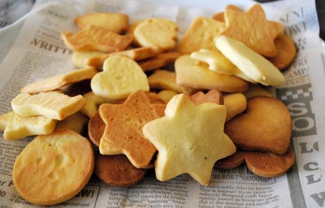 ハンドメイドの型抜きクッキー