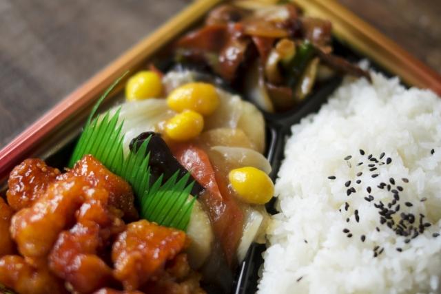 ご飯と野菜の煮物弁当