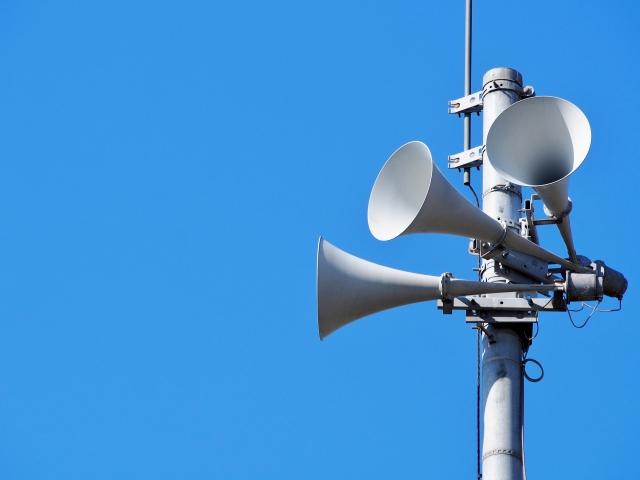 青空と拡声器