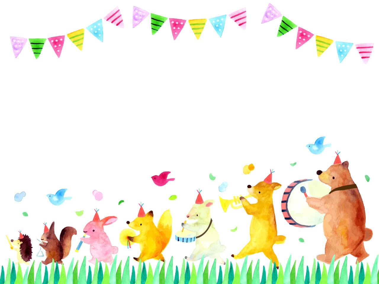 ウサギとキツネと犬の音楽隊