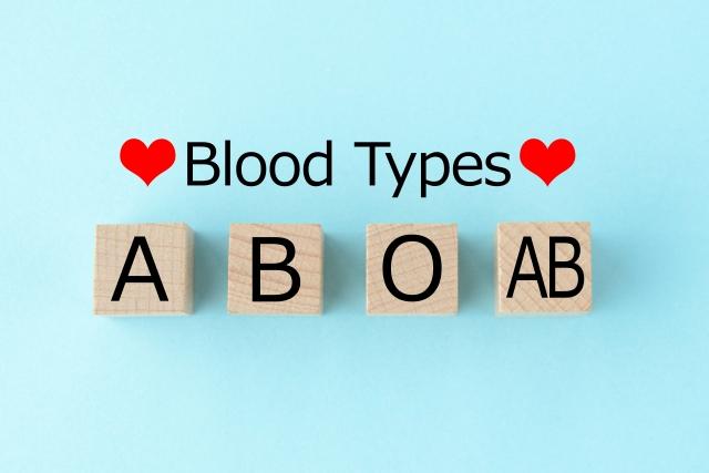 A,B,O.ABの血液型のブロック